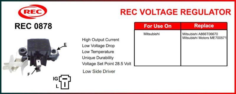 Tiết chế máy phát điện MITSUBISHI 24V, A866T06670, ME700571