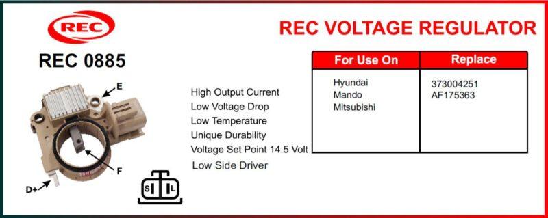 Tiết chế máy phát điện HYUNDAI, MANDO, MITSUBISHI 12V, 373004251, AF175363