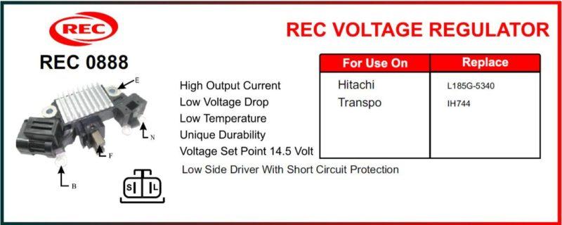 Tiết chế máy phát điện HITACHI, TRANSPO 12V, LR185G-5340, IH744