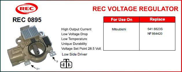 Tiết chế máy phát điện MITSUBISHI 24V, 5418823S, NF864420