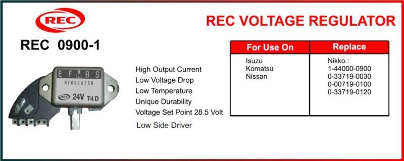 Tiết chế máy phát điện ISUZU, KOMATSU, NISSAN 24V, 1-44000-0900, 0-33719-0030, 0-00719-0100, 0-33719-0120