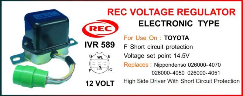 Tiết chế điện tử máy phát điện TOYOTA 12V, 026000-4070, 026000-4050, 026000-4051
