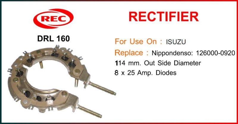 Điốt máy phát điện ISUZU, 8 x 25 Amp, 126000-0920