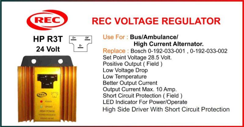 Tiết chế máy phát điện Bosch 24V, 0-192-033-001, 0-192-033-002